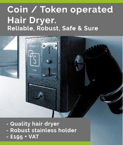 SP100 coin & token hairdryer